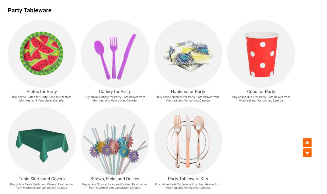 Get Party tableware cheap from Living.ca