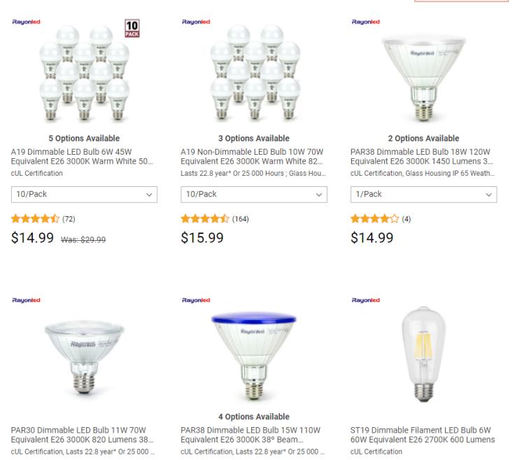 light bulb deals from living.ca