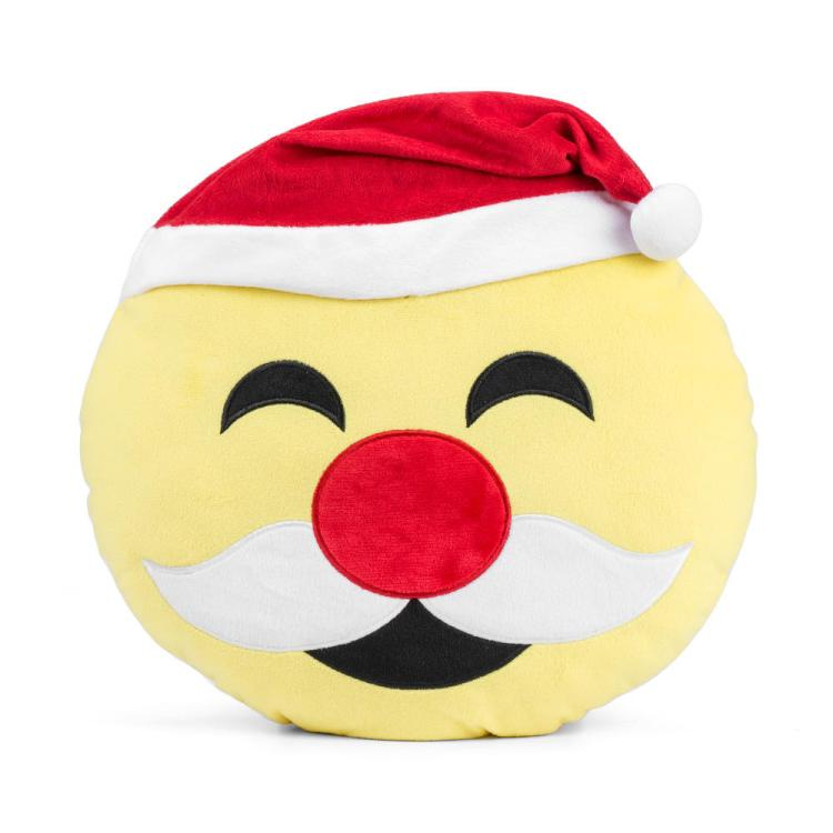 Christmas emoji pillow