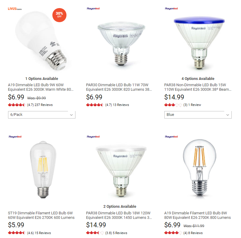 buy light bulb in canda