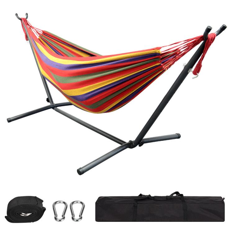 e3240-GreenWise-GZA-00551-Sports-Recreation-9Ft-Double-Hammock-with-Space-Saving-Steel-Stand-for-Travel-Beach-Yard-Outdoor-Camping
