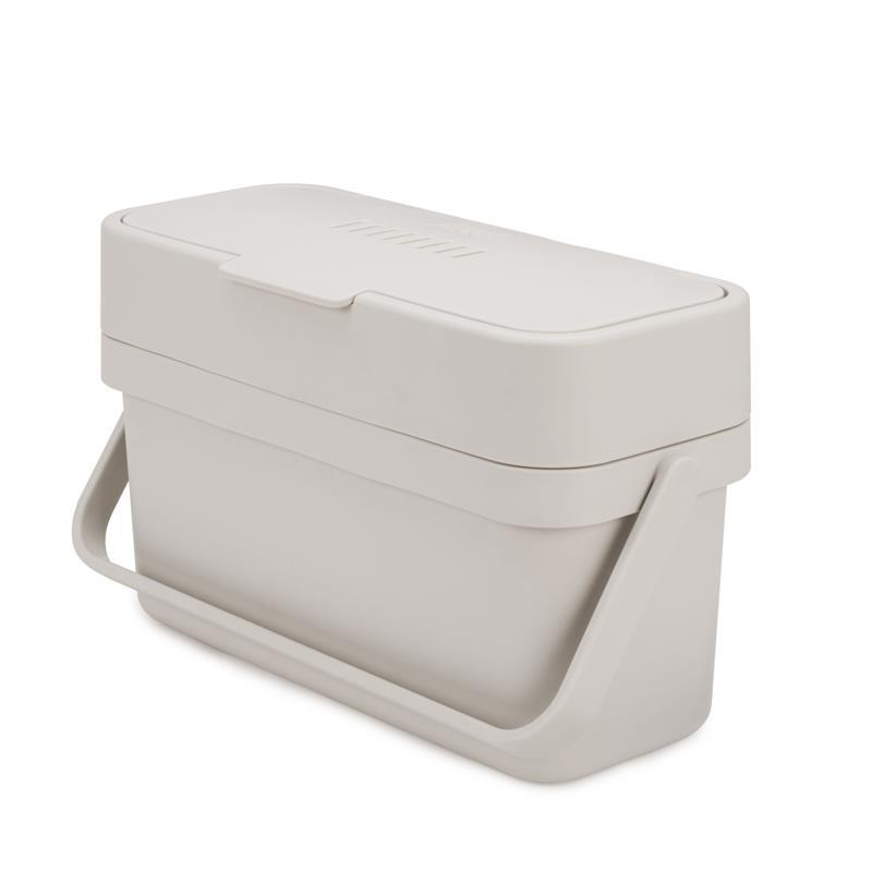 a white container with a lid closed and a handle